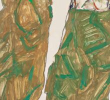 Egon Schiele - Devotion 1913 ,  Man Portrait , Egon Schiele  Sticker
