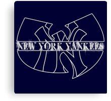 New York Yankees- Wu Tang mash up Canvas Print