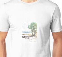 Tranquil Sandy Beach Unisex T-Shirt
