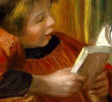 Auguste Renoir - Girl Reading . 1890 Auguste Renoir  Sticker
