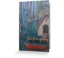 Swamp Boat House Greeting Card