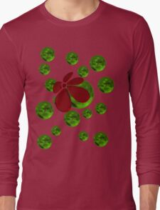 Balls with red flower Long Sleeve T-Shirt