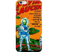 Retro Vintage Comic Book Cover Flying Saucers no.1, UFO iPhone Case/Skin