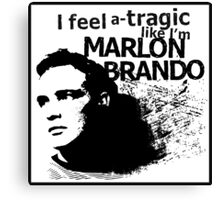 """I feel a-tragic like I'm Marlon Brando"" - Bowie lyrics - Dark Canvas Print"