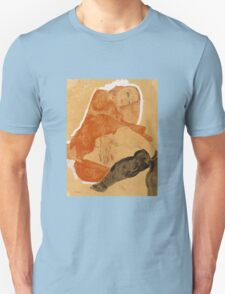 Egon Schiele - Girl in Red Robe and Black Stockings 1911  Egon Schiele  Woman Portrait Unisex T-Shirt