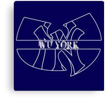 Wu York - New York Yankees- Wu Tang mash up Canvas Print