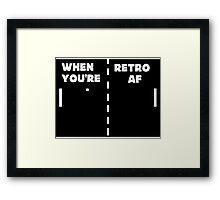 Retro T-Shirt + Hoodie Framed Print