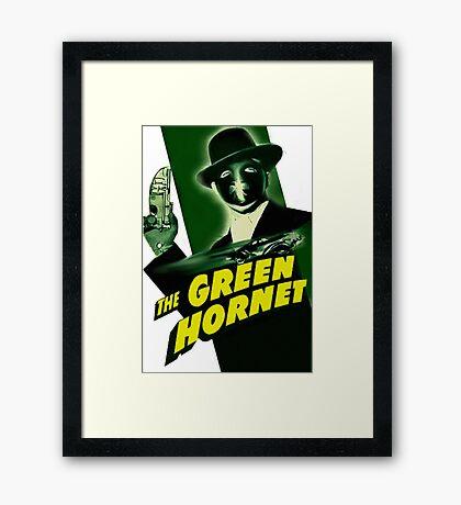 Vintage Green Hornet Serial Movie Poster-RETRO Framed Print