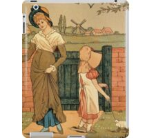 Kate Greenaway Mother and child Victorian illustration iPad Case/Skin