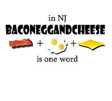 Bacon egg and cheese- NJ Photographic Print