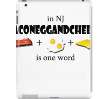 Bacon egg and cheese- NJ iPad Case/Skin