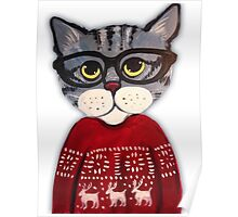 Sweater Cat Poster