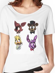 FNAF Characters Women's Relaxed Fit T-Shirt