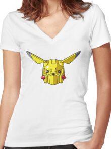 Mechachu Women's Fitted V-Neck T-Shirt