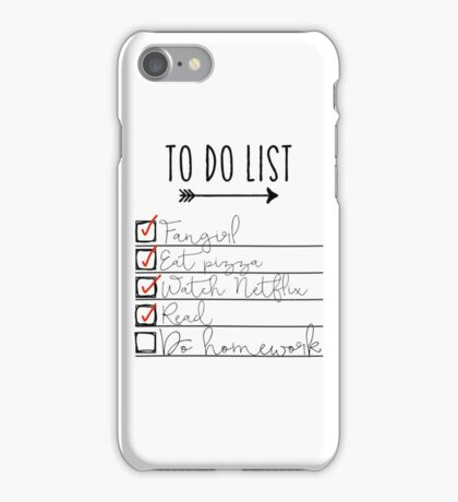 To Do List - Procrastinating Fangirl iPhone Case/Skin