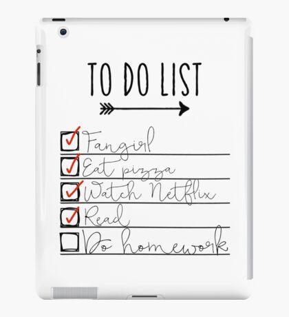 To Do List - Procrastinating Fangirl iPad Case/Skin