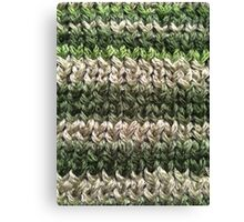 Green Knitted Pattern Canvas Print