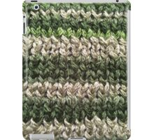 Green Knitted Pattern iPad Case/Skin