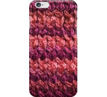 Red-Orange Knit Pattern iPhone Case/Skin