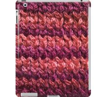 Red-Orange Knit Pattern iPad Case/Skin