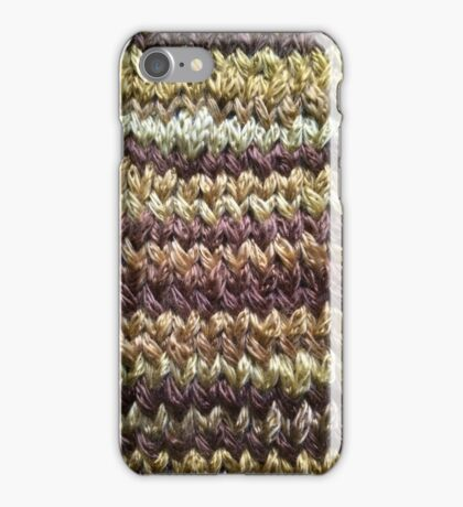Golden Brown Knitted Pattern iPhone Case/Skin