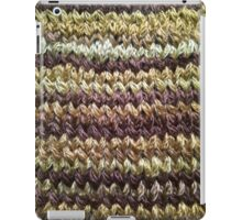 Golden Brown Knitted Pattern iPad Case/Skin