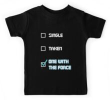 One with the Force (Blue) Kids Tee