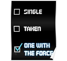One with the Force (Blue) Poster