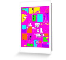 Granny's Things Pink Abstracted Greeting Card