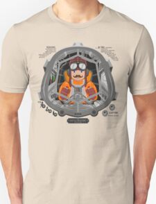 Piloted by a guy with a mustache Unisex T-Shirt