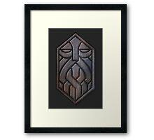 Steel Dwarven Sigil Framed Print