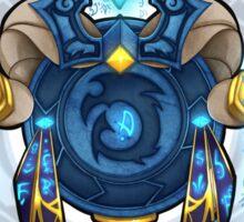 Blue DragonFlight Crest Sticker