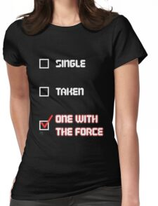 One with the Force (Red) Womens Fitted T-Shirt