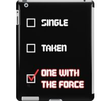 One with the Force (Red) iPad Case/Skin