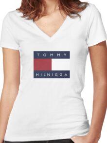 Tommy Hilnigga Women's Fitted V-Neck T-Shirt