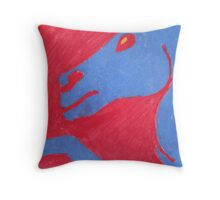 Pastel Primary Colors Horse Throw Pillow