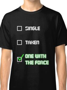One with the Force (Green) Classic T-Shirt