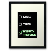 One with the Force (Green) Framed Print