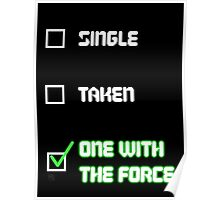 One with the Force (Green) Poster
