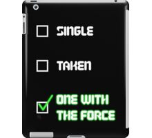 One with the Force (Green) iPad Case/Skin