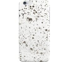 black & white splatter iPhone Case/Skin