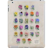 The Floral Alphabet iPad Case/Skin