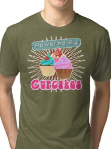 Powered by Cupcakes Tri-blend T-Shirt