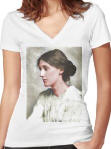 Virginia Woolf Women's Fitted V-Neck T-Shirt