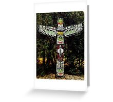 Totem Pole on the grounds of the Governor General's Residence Greeting Card