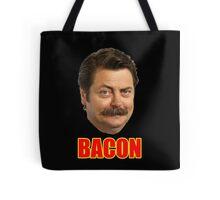 ron swanson bacon Tote Bag