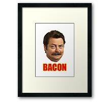ron swanson bacon Framed Print