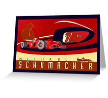 michael schumacher Ferrari racing poster Greeting Card