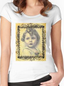 LITTLE GIRL WITH A CURL Women's Fitted Scoop T-Shirt