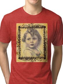 LITTLE GIRL WITH A CURL Tri-blend T-Shirt